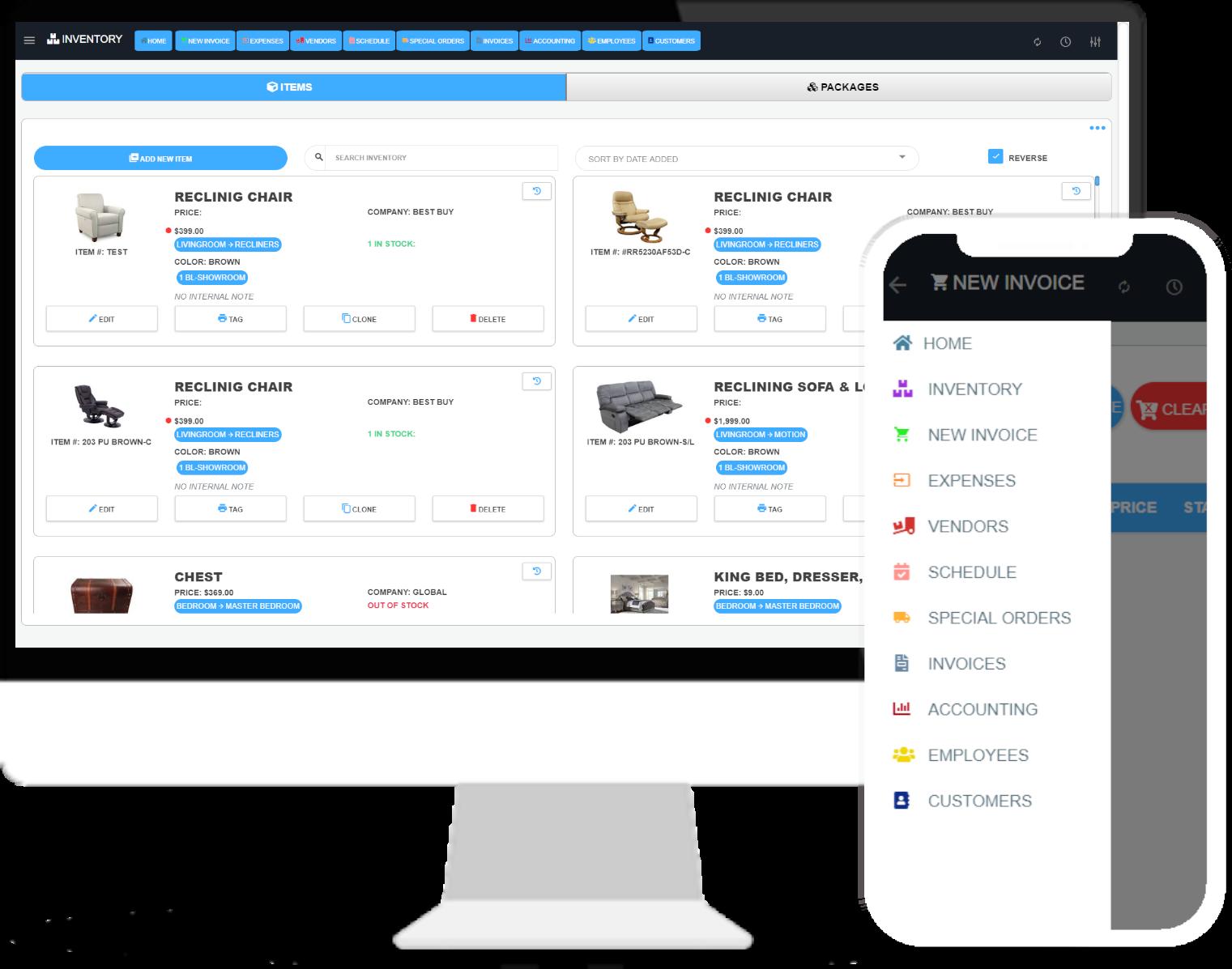 M&M POS System Screenshot